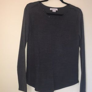 Grey sweater with beading